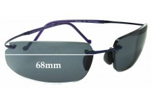 Sunglass Fix Replacement Lenses for Maui Jim Big Beach MJ918 - 68mm wide