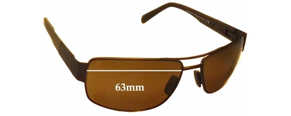 Maui Jim Ohia MJ703 Replacement Sunglass Lenses - 63mm Wide