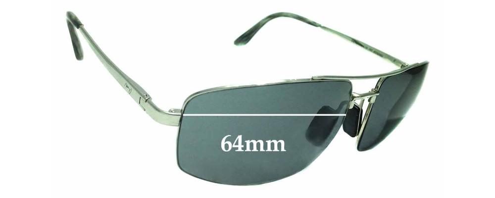Maui Jim Sandal Wood MJ217 Replacement Sunglass Lenses - 64mm Wide