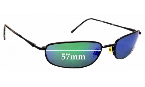 Sunglass Fix Replacement Lenses for Maui Jim South Shore MJ115 - 57mm Wide