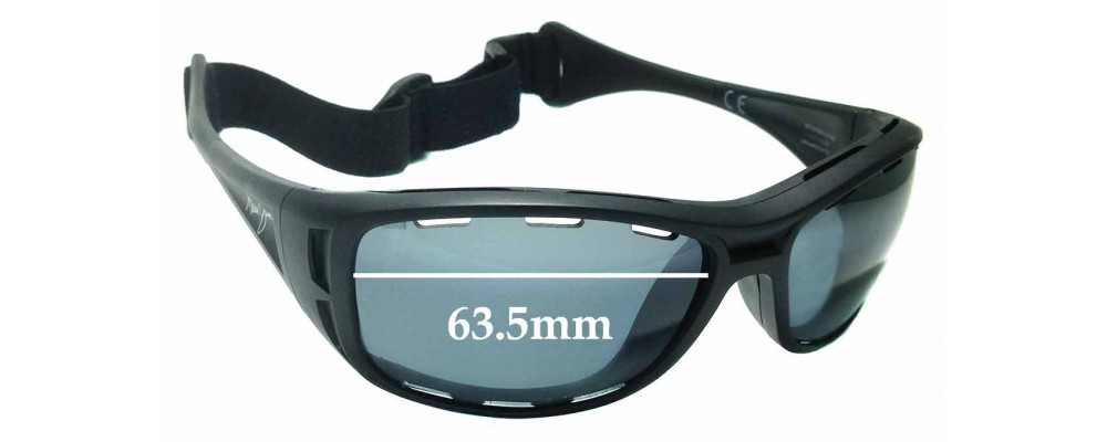 Maui Jim Waterman PC-BG MJ410 Replacement Sunglass Lenses - 63.5mm wide