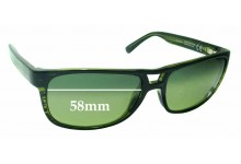 Maui Jim Waterways MJ267 Replacement Sunglass Lenses - 58mm Wide