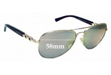 Sunglass Fix Replacement Lenses for Michael Kors Fiji MK1003R5 58mm wide