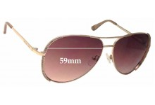 Michael Kors Sadie M2062S Replacement Sunglass Lenses - 59mm wide
