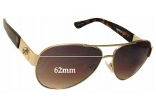 Sunglass Fix New Replacement Lenses for Mimco Traveller - 62mm Wide