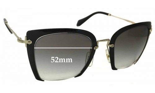 Sunglass Fix Replacement Lenses for Miu Miu SMU52R - 52mm wide