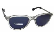 Moncler MC551S Replacement Sunglass Lenses - 55mm Wide