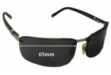 Sunglass Fix New Replacement Lenses for Montblanc MB 34S - 65mm Wide