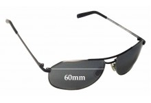 Morgenthal Frederics Stealth 60 Replacement Sunglass Lenses - 60mm wide