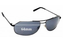 Sunglass Fix Replacement Lenses for Morgenthal Frederics Stealth 64 - 64mm wide