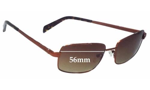 Nautica N5034SRX Replacement Sunglass Lenses - 56mm wide