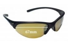 Sunglass Fix Replacement Lenses for Nike Skylon EXP RD EVO173-201 - 67mm Wide