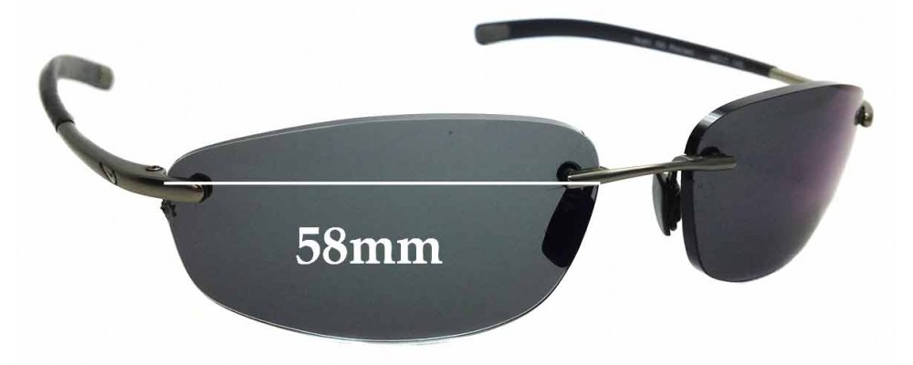 4fbb10b54a Sunglass Fix Replacement Lenses for Nike Vaughn - Flexon - 58mm wide