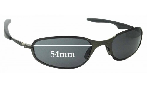 Sunglass Fix Replacement Lenses for Oakley A-Wire 2.0 Thick - 54mm Wide - awire a wire