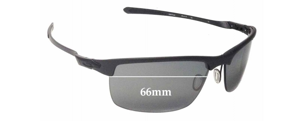 ffb690d6ad0 Oakley Carbon Blade OO9174 Replacement Sunglass Lenses - 66mm Wide