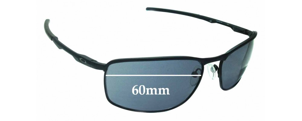 82df4102d7e Oakley Conductor 8 OO4107 Replacement Sunglass Lenses - 60mm Wide
