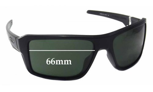 Oakley Double Edge OO9380 Replacement Sunglass Lenses - 66mm wide