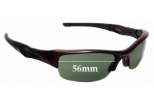 Sunglass Fix Replacement Lenses for Oakley Flak Jacket - 56mm Wide