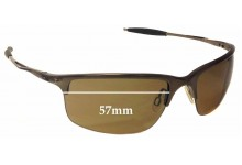 Oakley Half Wire 2.0 Replacement Sunglass Lenses - 57mm Wide