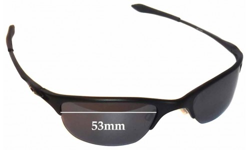 Oakley Half Wire Original Replacement Sunglass Lenses - 53mm Wide
