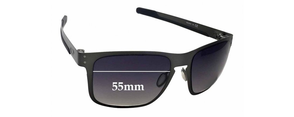 ccfbf1741fa Oakley Holbrook Metal OO4123 Replacement Sunglass Lenses - 55mm Wide