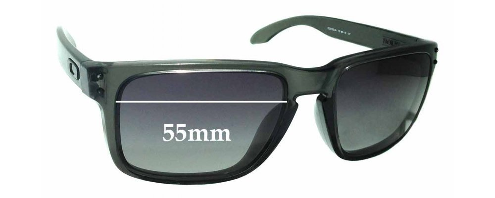 1571a0192a Oakley Holbrook OO9102 Replacement Sunglass Lenses - 55mm Wide