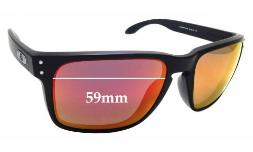 Sunglass Fix Replacement Lenses for Oakley Holbrook XL OO9417 - 59mm Wide