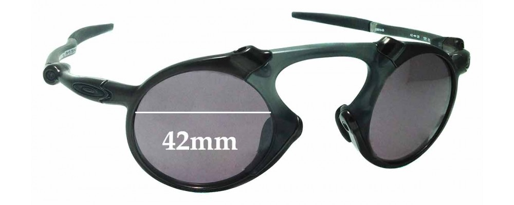 Sunglass Fix Replacement Lenses for Oakley X Metal Madman OO6019 - 42mm wide