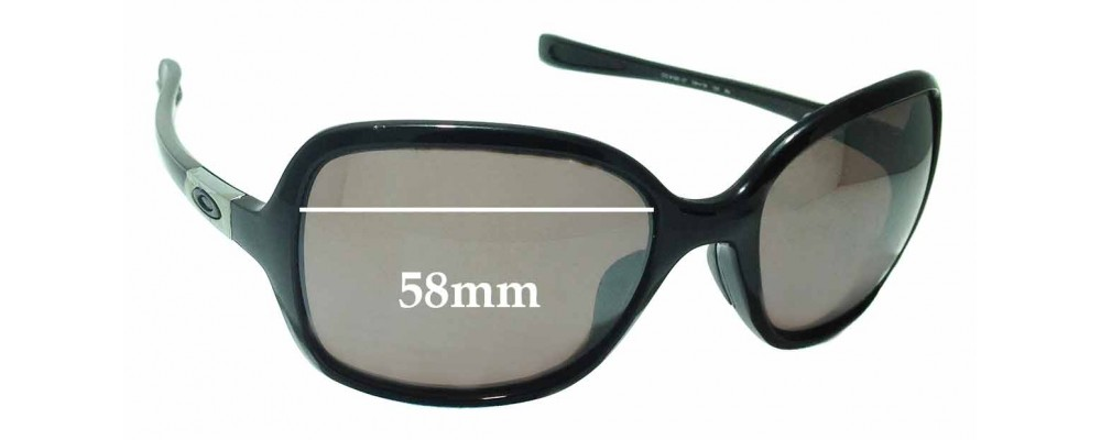 Oakley Obsessed OO9192 Replacement Sunglass Lenses - 58mm wide