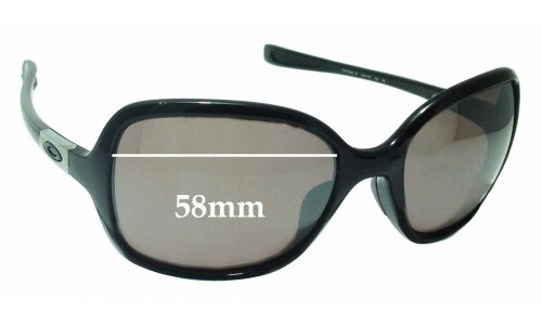 Sunglass Fix Replacement Lenses for Oakley Obsessed OO9192 - 58mm wide