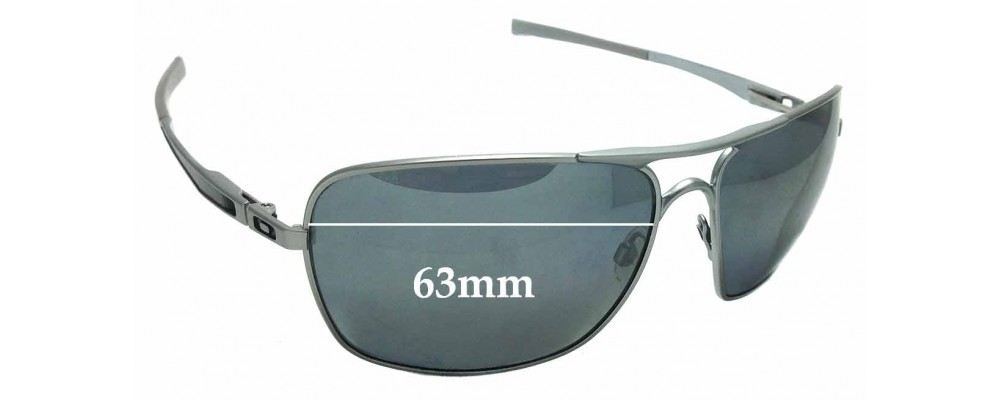 b42135f6a Sunglass Fix Replacement Lenses for Oakley Plaintiff Squared OO4063 - 63mm  wide