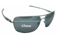 Sunglass Fix Replacement Lenses for Oakley Plaintiff Squared OO4063 - 63mm Wide