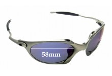 Sunglass Fix Replacement Lenses for Oakley X Metal Romeo 1.0 OO1529 - 58mm Wide