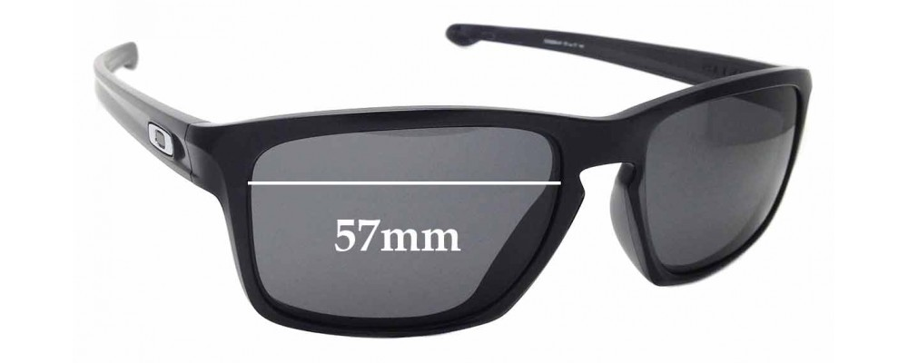 Sunglass Fix Replacement Lenses for Oakley Sliver OO9269 - 57mm wide