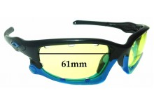 Sunglass Fix Replacement Lenses for Oakley Split Jacket OO9099 - Vented Lenses - 61mm Wide