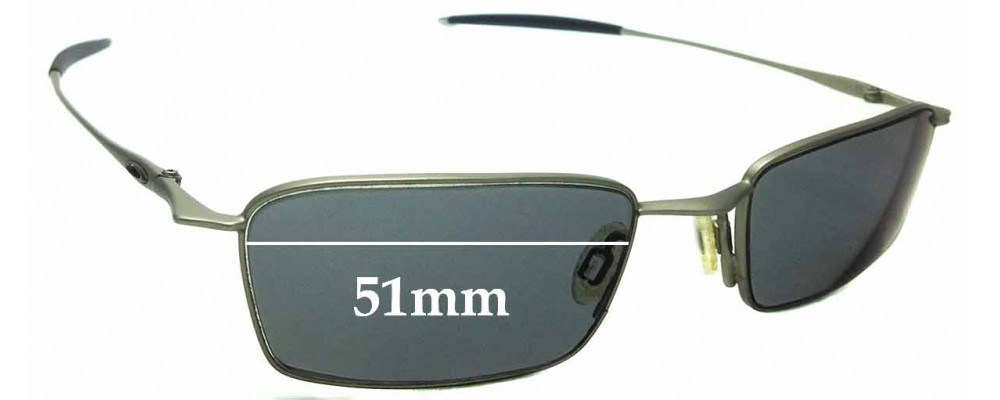Sunglass Fix Replacement Lenses for Oakley Thread 6.0 - 51mm wide