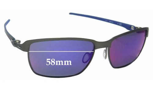 Oakley Tinfoil Carbon OO6018 Replacement Sunglass Lenses - 58mm Wide
