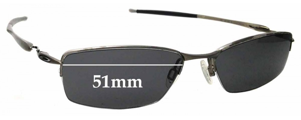 Sunglass Fix Replacement Lenses for Oakley Transistor - 51mm Wide