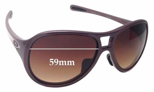 Oakley Twentysix.2 OO9218 Replacement Sunglass Lenses - 59mm wide