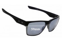 Sunglass Fix Replacement Lenses for Oakley Two Face XL OO9350- 59mm Wide