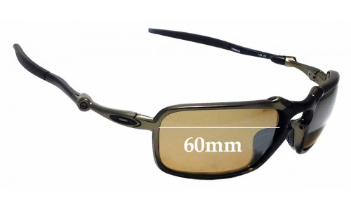 Sunglass Fix Replacement Lenses for Oakley X Metal Badman OO6020 - 60mm Wide