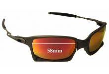 Oakley X-Squared OO6011 Replacement Sunglass Lenses - 58mm wide