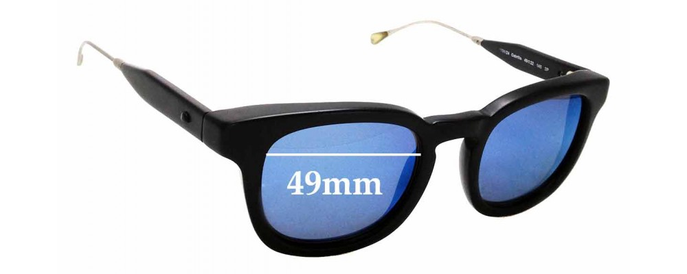 Sunglass Fix Replacement Lenses for Oliver Peoples West Cabrillo - 49mm wide
