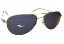 Oliver Peoples Benedict OV 1002S Replacement Sunglass Lenses - 59mm wide
