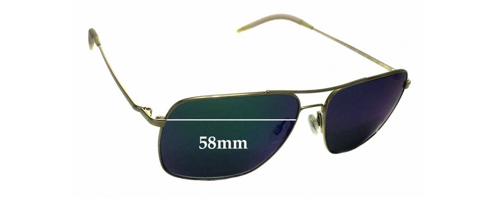 eec1f4920aa Oliver Peoples Clifton OV1150-S Replacement Sunglass Lenses - 58mm wide