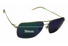 Oliver Peoples Clifton OV1150-S Replacement Sunglass Lenses - 58mm wide