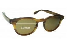 Oliver Peoples Sheldrake OV5036 Replacement Sunglass Lenses - 47mm wide