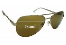 Sunglass Fix New Replacement Lenses for Oroton Alpine Aviator- 58mm Wide