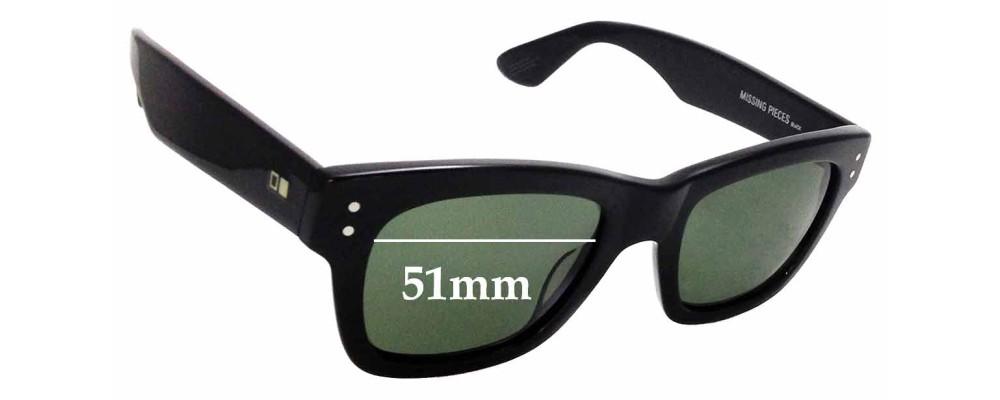 ce792e7d3c Sunglass Fix Replacement Lenses for Otis Missing Pieces - 51mm wide ...