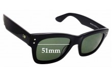 Sunglass Fix Replacement Lenses for Otis Missing Pieces - 51mm wide